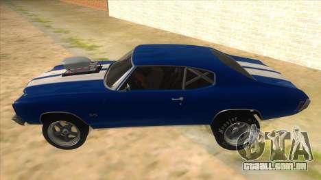 1970 Chevrolet Chevelle SS Drag para GTA San Andreas esquerda vista