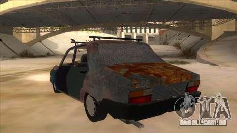 Dacia 1310 Rusty v2 para GTA San Andreas traseira esquerda vista