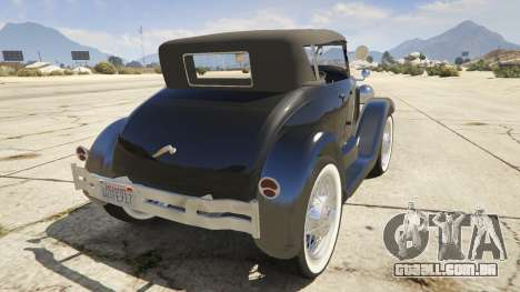 GTA 5 Ford T 1927 Roadster traseira vista lateral esquerda