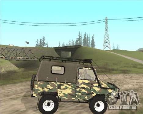 969М LuAZ Fora-de-Estrada para GTA San Andreas esquerda vista