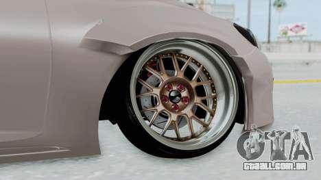 Toyota Mark X Slammed para GTA San Andreas traseira esquerda vista