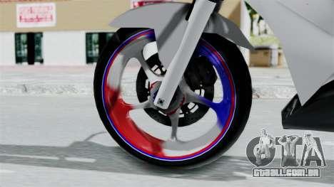 Honda CB150R para GTA San Andreas traseira esquerda vista