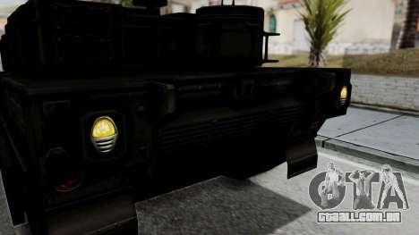 Point Blank Black Panther Woodland IVF para GTA San Andreas vista interior