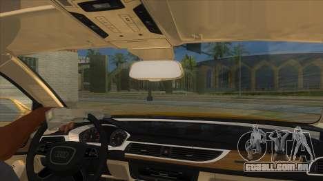 Audi A6 2012 para GTA San Andreas vista interior