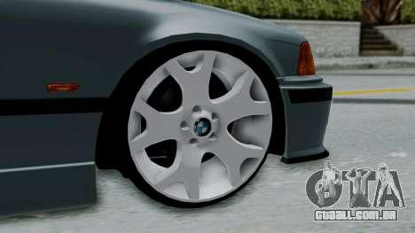BMW 320 E36 Coupe para GTA San Andreas traseira esquerda vista
