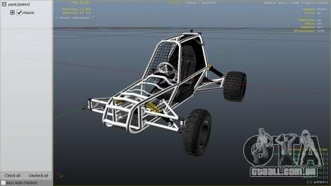 GTA 5 Kart Cross vista lateral direita