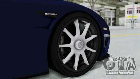 Koenigsegg CCX para GTA San Andreas traseira esquerda vista
