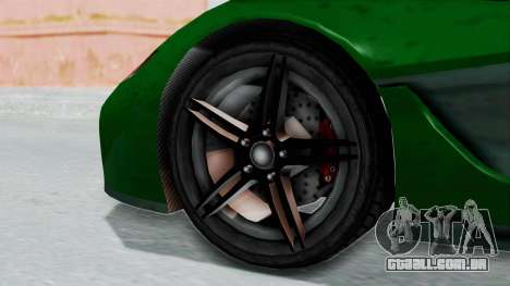 GTA 5 Progen T20 v2 IVF para GTA San Andreas traseira esquerda vista
