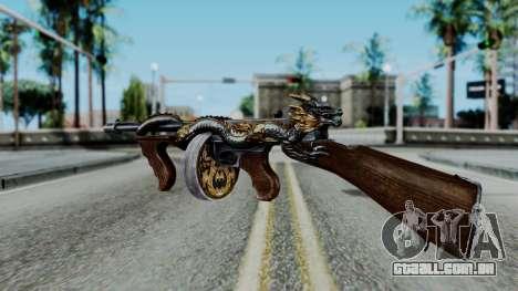 Dragon Thompson para GTA San Andreas terceira tela