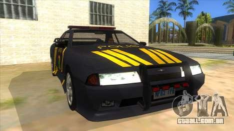 Elegy NR32 Police Edition Grey Patrol para GTA San Andreas vista traseira