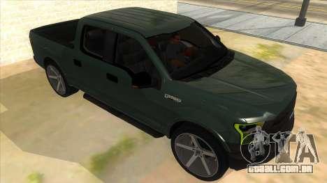 Ford F-150 2015 para GTA San Andreas vista traseira