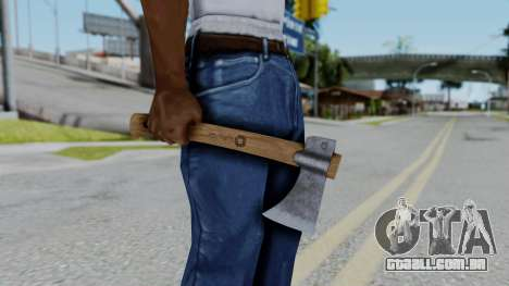 No More Room in Hell - Hatchet para GTA San Andreas terceira tela