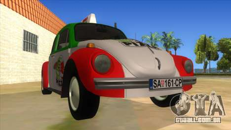 Volkswagen Beetle Pizza para GTA San Andreas vista traseira