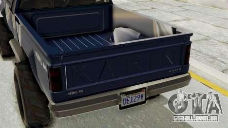 GTA 5 Karin Technical Cleaner para GTA San Andreas traseira esquerda vista