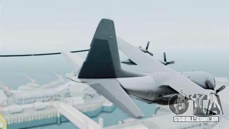 KC-130 Air Tanker para GTA San Andreas traseira esquerda vista