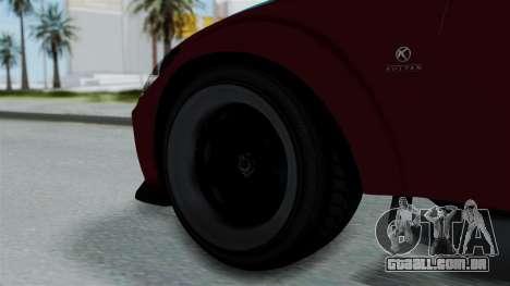 GTA 5 Karin Sultan RS Stock para GTA San Andreas traseira esquerda vista