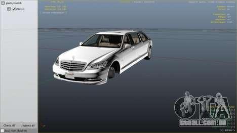 GTA 5 2011 Mercedes-Benz S600 Guard Pullman vista lateral direita