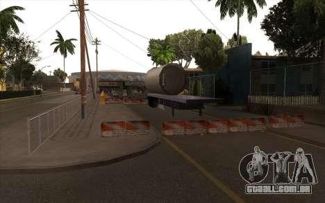 O trabalho de reparação Grove Street para GTA San Andreas por diante tela