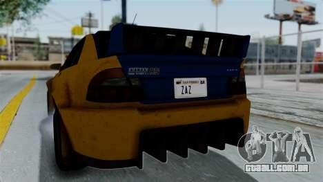 GTA 5 Karin Sultan RS Rally PJ para GTA San Andreas vista interior