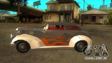 GTA LCS Thunder-Rodd para GTA San Andreas esquerda vista