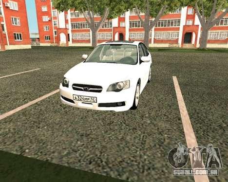Subaru Legacy para GTA San Andreas esquerda vista