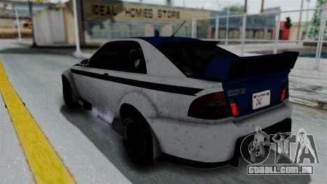 GTA 5 Karin Sultan RS Rally PJ para GTA San Andreas vista inferior