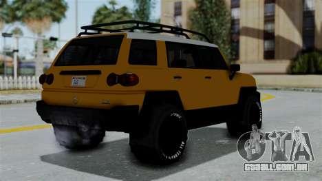GTA 5 Karin Beejay XL Offroad para GTA San Andreas esquerda vista
