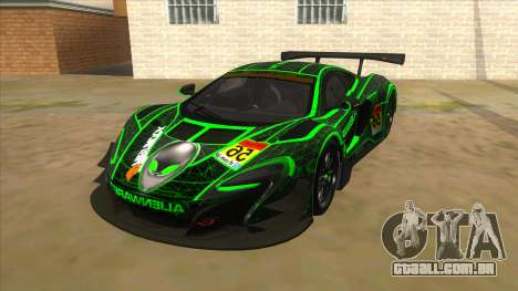 McLaren 650S GT3 Alien PJ para GTA San Andreas