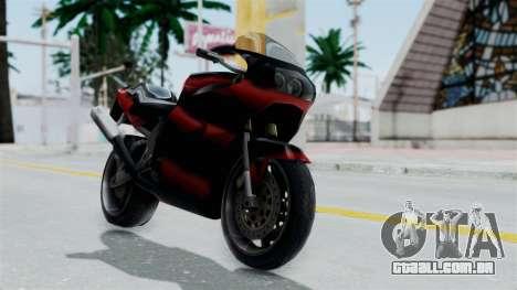 FCR-900 Custom para GTA San Andreas traseira esquerda vista