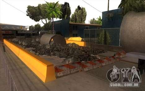 O trabalho de reparação Grove Street para GTA San Andreas terceira tela