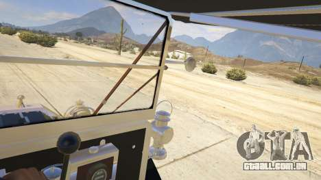 GTA 5 Ford T 1910 Passenger Open Touring Car traseira direita vista lateral