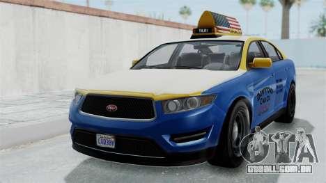 GTA 5 Vapid Stanier Ⅲ (Interceptor) Taxi para GTA San Andreas