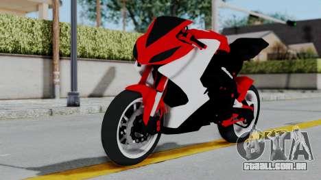 Yamaha YZF-R25 YoungMachine Concept para GTA San Andreas traseira esquerda vista