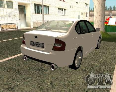 Subaru Legacy para GTA San Andreas vista direita
