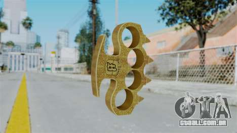 Knuckle Dusters from Ill Gotten Gains Part 2 para GTA San Andreas segunda tela