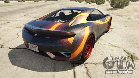 GTA 5 Jester Carbon Line traseira vista lateral esquerda