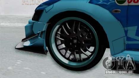 Mitsubishi Lancer Evolution IX MR Edition v2 para GTA San Andreas traseira esquerda vista