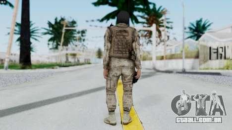 Crysis 2 US Soldier 8 Bodygroup A para GTA San Andreas terceira tela