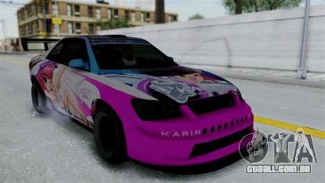 GTA 5 Karin Sultan RS Drift Big Spoiler PJ para as rodas de GTA San Andreas