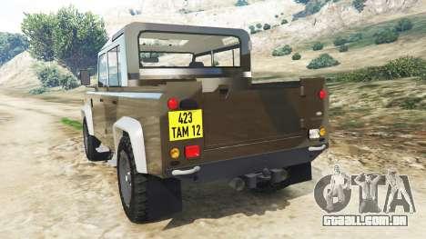 GTA 5 Land Rover Defender 110 Pickup traseira vista lateral esquerda