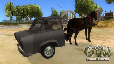 Trabant with Horse para GTA San Andreas vista direita