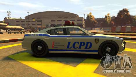 Bravado Buffalo Police Patrol [original wheels] para GTA 4 esquerda vista