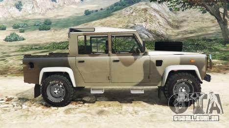 GTA 5 Land Rover Defender 110 Pickup vista lateral esquerda