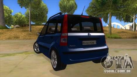 Fiat Panda V3 para GTA San Andreas traseira esquerda vista