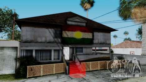 New CJ House with Kurdish Flag para GTA San Andreas segunda tela
