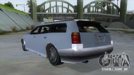 GTA LCS Sindacco Argento para GTA San Andreas traseira esquerda vista