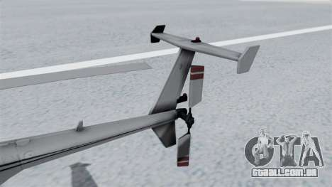 Makarovs Private MD-500 para GTA San Andreas traseira esquerda vista
