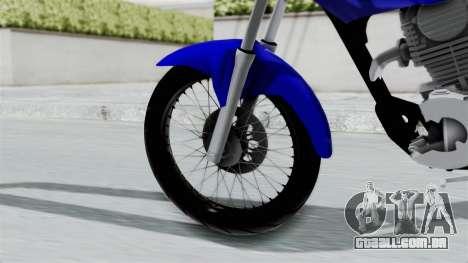 Honda CG Titan 2014 Stunt para GTA San Andreas traseira esquerda vista