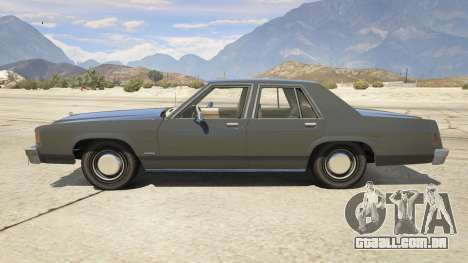 GTA 5 1987 Ford LTD Crown Victoria vista lateral esquerda