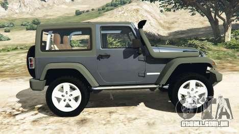 GTA 5 Jeep Wrangler 2012 v1.1 vista lateral esquerda